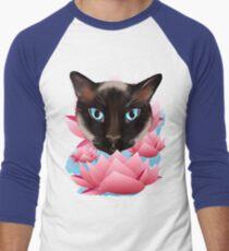 Camiseta ¾ bicolor para hombre Gato de la tierra de Lotus