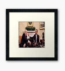 Political Dispute  Framed Print
