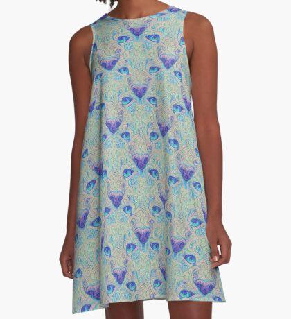 Ice Spirit #DeepDreamed A-Line Dress