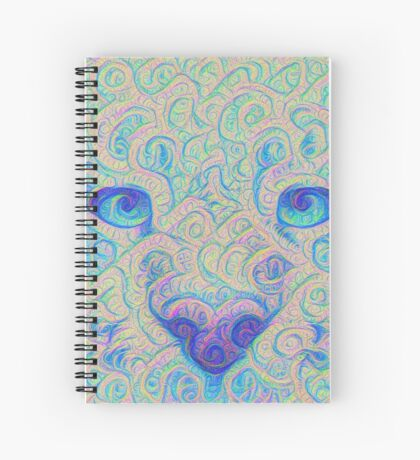 Ice Spirit #DeepDreamed Spiral Notebook