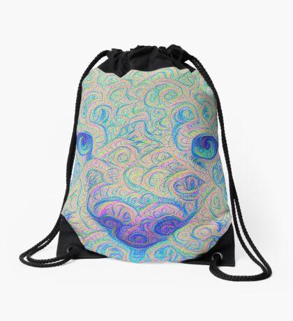 Ice Spirit #DeepDreamed Drawstring Bag