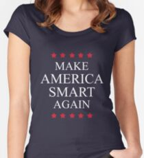 Make America Smart Again Women's Fitted Scoop T-Shirt