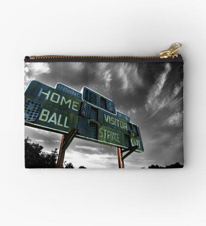 Old Baseball Scoreboard - The Diamond- Greenham Studio Pouch