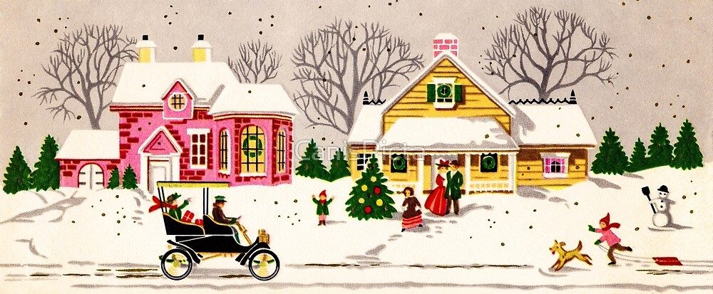 "Seasons Greetings Sunday Driver"" - Vintage Christmas Card, Time ..."