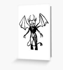 Inked Jersey Devil  Greeting Card