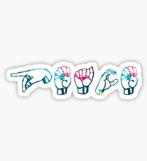 """Peace"" in ASL colourful Sticker"
