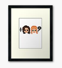 hoes before bros Framed Print