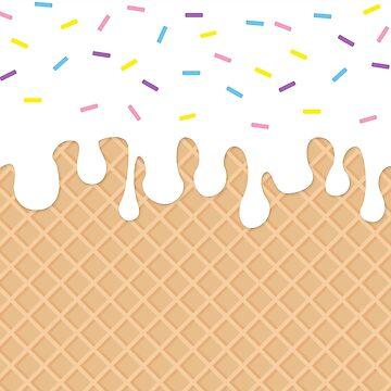 Miss Sundae - Pattern (vanilla sprinkles) by artemissart