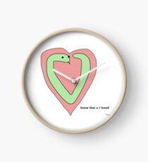 Snek Heart - Tiny Snek Comics Clock