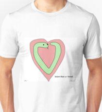 Snek Heart - Tiny Snek Comics T-Shirt