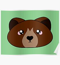 Cute little brown bear - Forest animal collection Poster