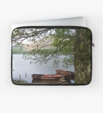 Boats on a lake in Cumbria Laptop Sleeve