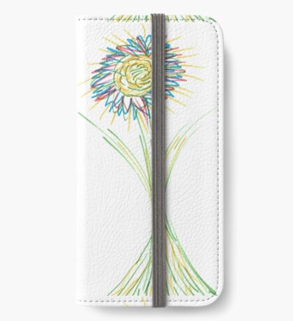 Drawn Daisy iPhone Wallet