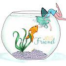 Fish are Friends Card by FairyNerdy