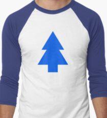 Dipper Pines Tree Shape // Gravity Falls Men's Baseball ¾ T-Shirt