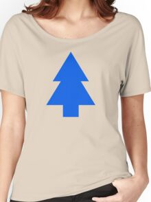 Dipper Pines Tree Shape // Gravity Falls Women's Relaxed Fit T-Shirt