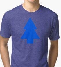 Dipper Pines Tree Shape // Gravity Falls Tri-blend T-Shirt