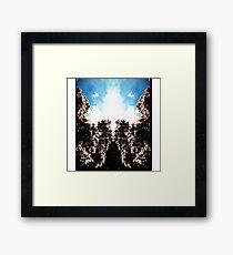 mirror trees Framed Print
