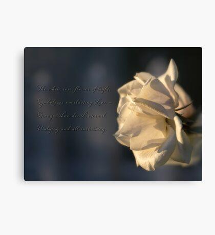 Flower of light Canvas Print