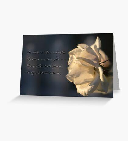 Flower of light Greeting Card