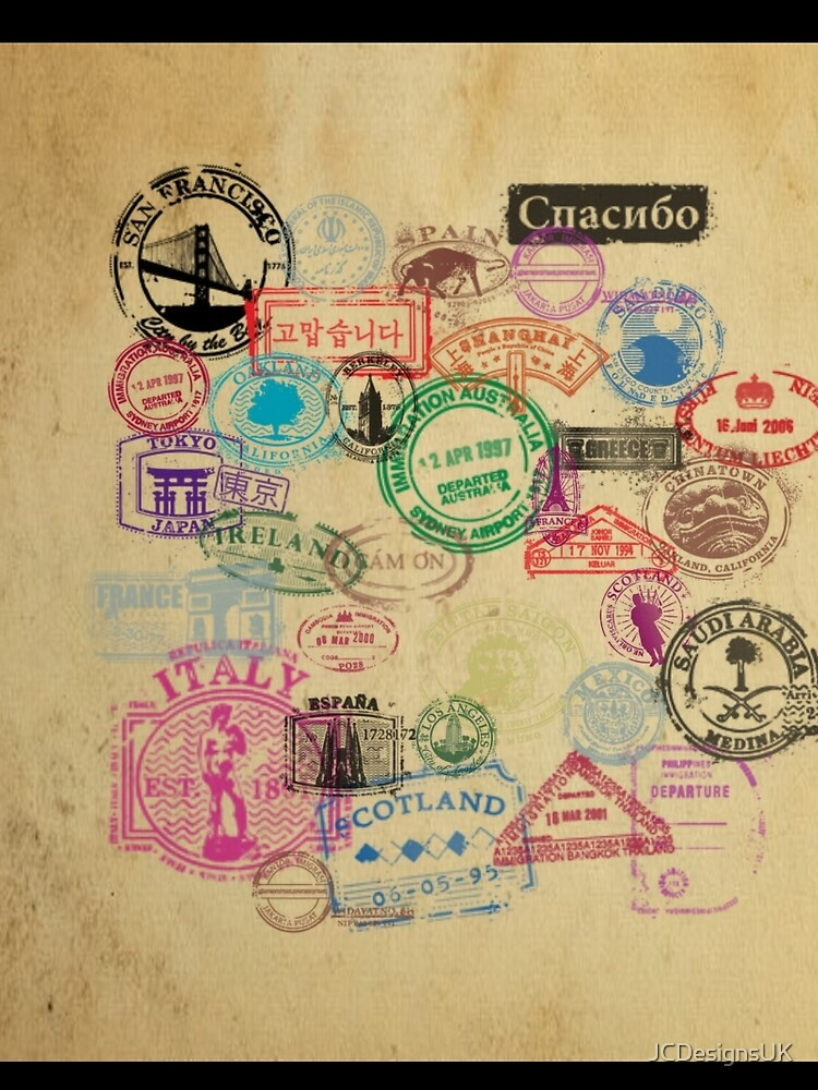 Vintage Passport Briefmarken von JCDesignsUK