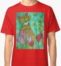 Green Cat Classic T-Shirt