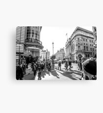 Piccadilly rush Canvas Print