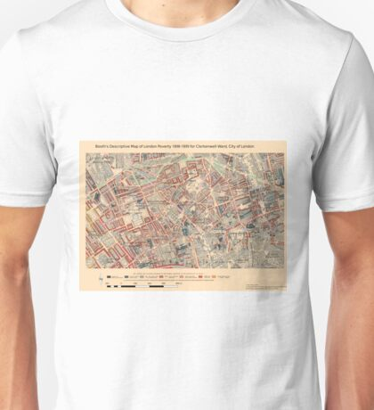 Booth's Map of London Poverty for Clerkenwell ward, City of London Unisex T-Shirt