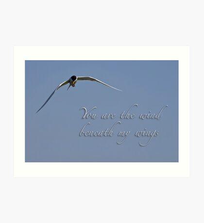 Wind unter meinen Flügeln Kunstdruck