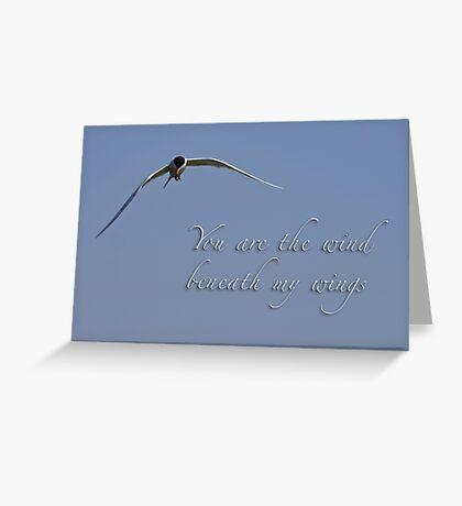 Wind beneath my wings Greeting Card