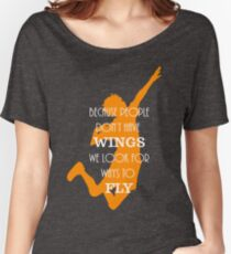 Haikyuu!! Because people don't have wings, we look for ways to fly. Women's Relaxed Fit T-Shirt