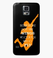 Haikyuu!! Because people don't have wings, we look for ways to fly. Case/Skin for Samsung Galaxy