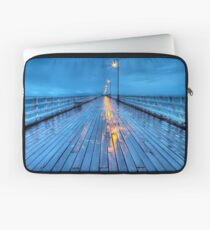 Stormy Shorncliffe Pier in HDR Laptop Sleeve