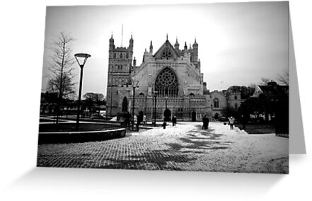 Exeter Cathedral in The Snow by Andy Mackay