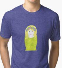 Hippy Nesting Doll Tri-blend T-Shirt