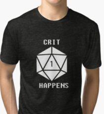 CRIT Happens (White) Tri-blend T-Shirt