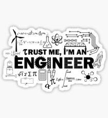 Vertrau mir, ich bin ein Ingeneur Sticker