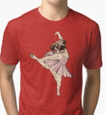 Dog Ballerina Tutu Tri-blend T-Shirt