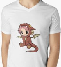 Natsu Dragneel chibi Mens V-Neck T-Shirt
