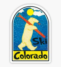 SKI COLORADO VINTAGE POLAR BEAR SKIING ASPEN VAIL BRECKENRIDGE Sticker
