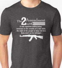 Cool 2nd Amendment Guns white T-Shirt