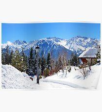 View at Stubai Alps Range, Tyrol, Austria Poster
