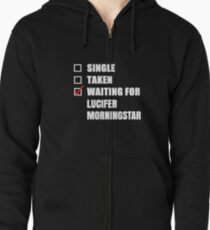 Waiting for Lucifer Morningstar Zipped Hoodie