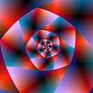 Blue Red and Pink Spiral by Objowl