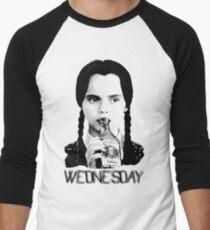 Wednesday Addams   The Addams Family Men's Baseball ¾ T-Shirt