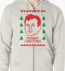 murray christmas zipped hoodie