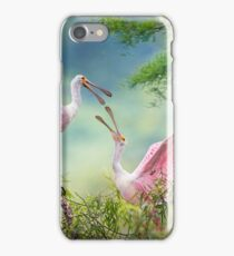 Roseate Spoonbill Juveniles iPhone Case/Skin