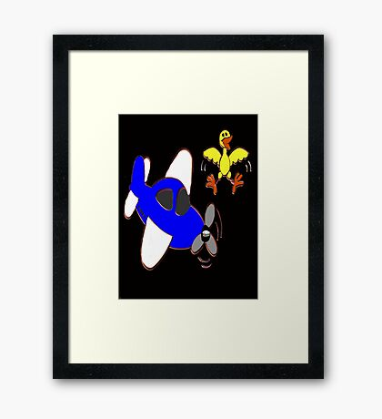 Hey !....Watch Where Your Going There Buddie Framed Print