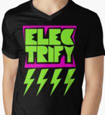 Electrify Mens V-Neck T-Shirt