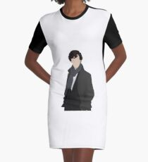 Sherlock Vector Graphic T-Shirt Dress